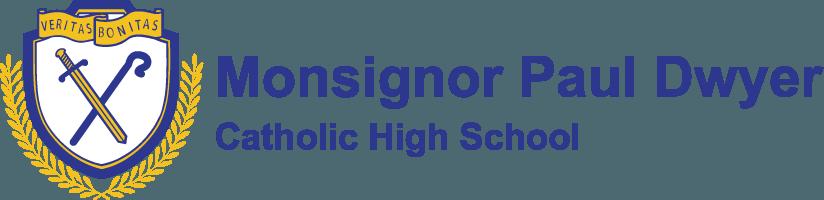 Monsignor Paul Dwyer Catholic High School logo