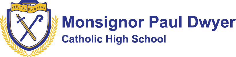 Monsignor Paul Dwyer Catholic High School Logo